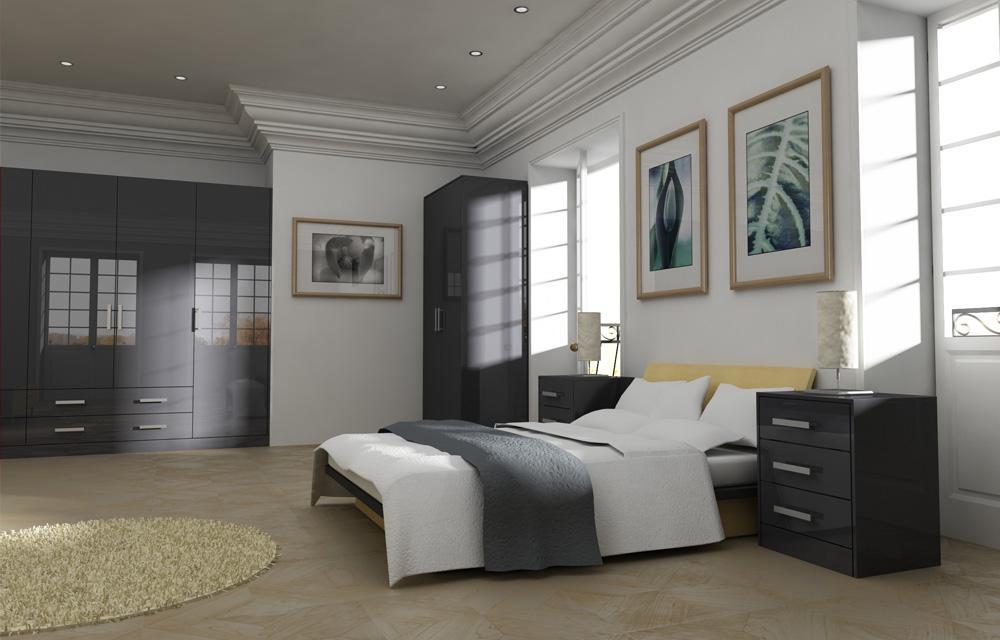 Gravity Dark Grey Bedroom
