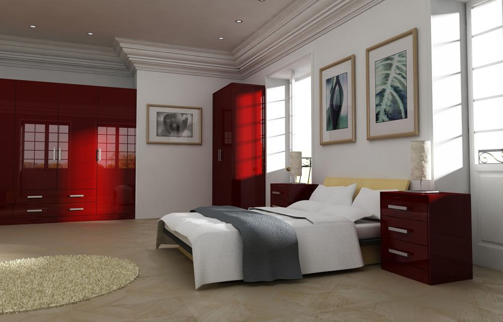 Gravity Red Bedroom