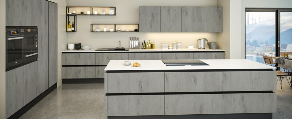 Slab style replacement kitchen doors