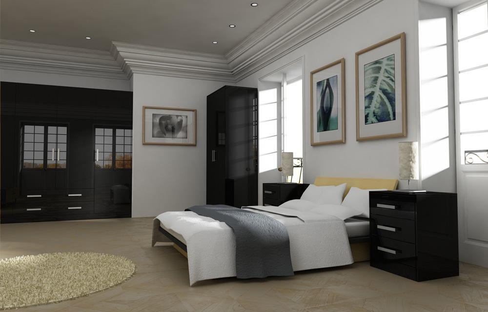 Zurfiz Black Bedroom