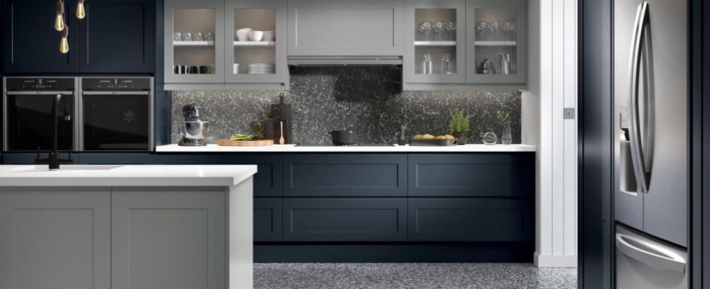 Shaker style replacement kitchen cupboard doors