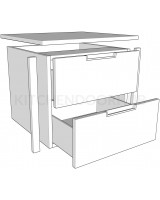 Internal Drawer Packs - 2 Drawer