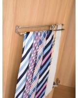 Bedroom Storage Twin Rail Tie Rack