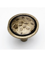 Mottled Knob - Antique Brass