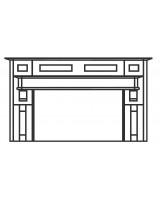 Broadoak Full Mantel Kit - Painted Range