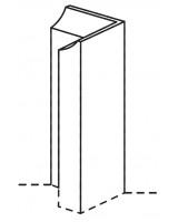Ellerton external base corner post with chamfer