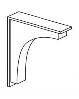 Hunton Contemporary Shelf Corbel