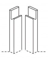 Remo base corner post j-profile (pair)