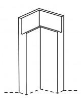 Remo internal base corner post