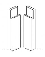 Remo Base Corner Post J Profile (pair)