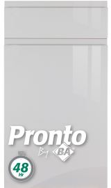 pronto lacarre gloss light grey pronto kitchen door