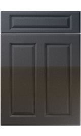 unique benwick high gloss anthracite sparkle kitchen door