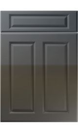 unique benwick high gloss graphite kitchen door