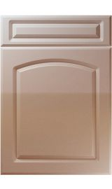 unique boston high gloss cappuccino kitchen door