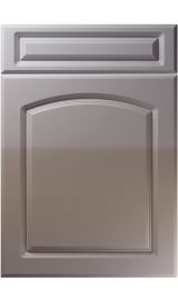 unique boston high gloss dust grey kitchen door