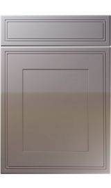 unique bridgewater high gloss dust grey kitchen door