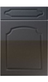 unique chedburgh high gloss anthracite sparkle kitchen door