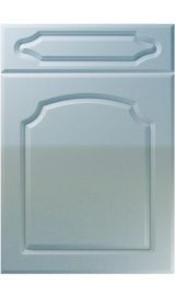 unique chedburgh high gloss blue sparkle kitchen door