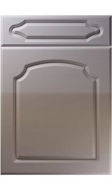 unique chedburgh high gloss dust grey kitchen door