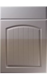 unique cottage high gloss dust grey kitchen door