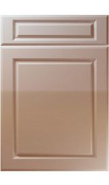 unique fenwick high gloss cappuccino kitchen door
