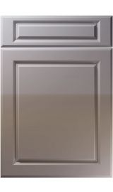 unique fenwick high gloss dust grey kitchen door