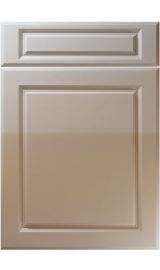 unique fenwick high gloss stone grey kitchen door