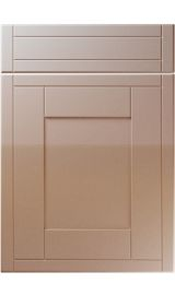 unique keswick high gloss cappuccino kitchen door