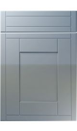 unique keswick high gloss denim kitchen door