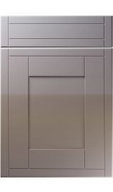 unique keswick high gloss dust grey kitchen door