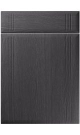 unique linea painted oak graphite kitchen door