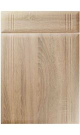 unique linea sonoma oak kitchen door