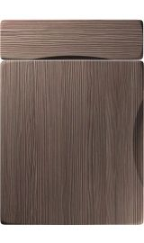 unique metropole brown grey avola kitchen door