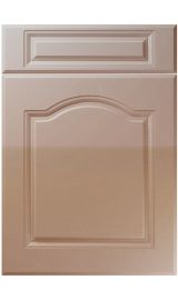 unique ribble high gloss cappuccino kitchen door