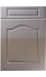 unique ribble high gloss dust grey kitchen door