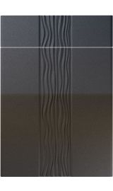 unique sahara high gloss anthracite sparkle kitchen door