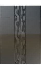 unique sahara high gloss graphite kitchen door