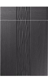 unique sahara painted oak graphite kitchen door