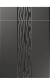 unique sahara super matt graphite kitchen door