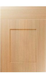 unique shaker light ferrara oak kitchen door