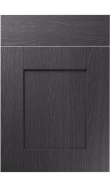 unique shaker painted oak graphite kitchen door