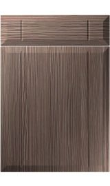 unique twinline brown grey avola kitchen door
