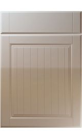 unique willingdale high gloss stone grey kitchen door