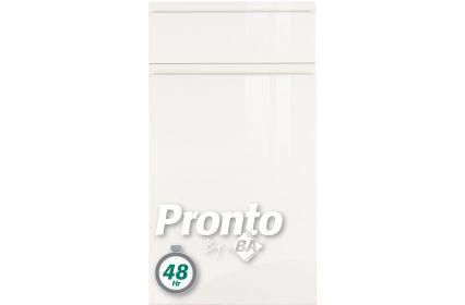 Pronto Lacarre Gloss White (22mm) kitchen door