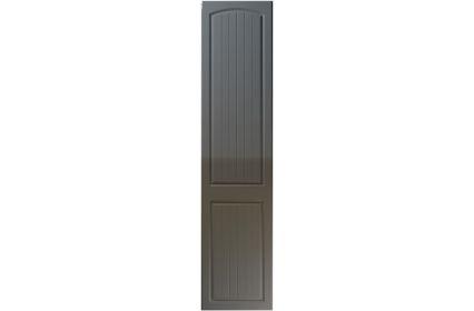 Unique Cottage High Gloss Graphite bedroom door