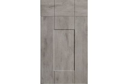 Bella Warwick London Concrete kitchen door