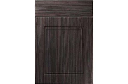 Unique Ascot Hacienda Black kitchen door