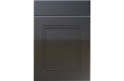Unique Ascot High Gloss Anthracite Sparkle kitchen door
