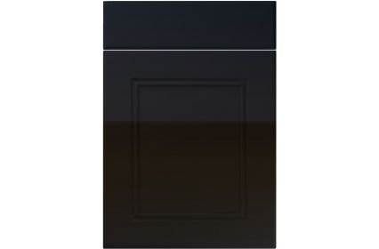 Unique Ascot High Gloss Black kitchen door