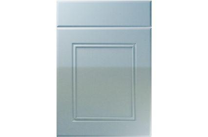 Unique Ascot High Gloss Blue Sparkle kitchen door